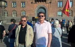 خۆپیشاندانی پشتیوانی کردن لە ه.د.پ بە بەشداریی کۆمەڵە لە دانمارک