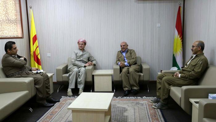 وەفدێكی كۆمەڵەو پارتی دیموكراتی كوردستان كۆبوونەوە
